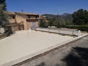 volet de piscine hors sol grande largeur de 8 m
