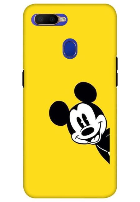 Yellow Mickey Art Mobile Cover For Oppo A5S
