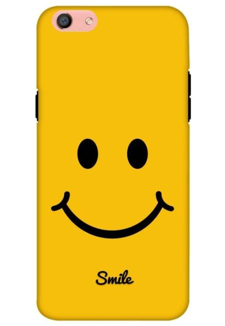 Yellow Smily Mobile Cover For Oppo F3