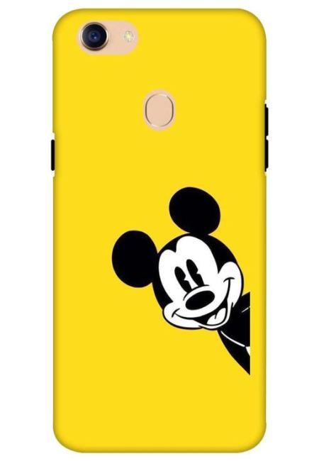 Yellow Mickey Art Mobile Cover For Oppo F5
