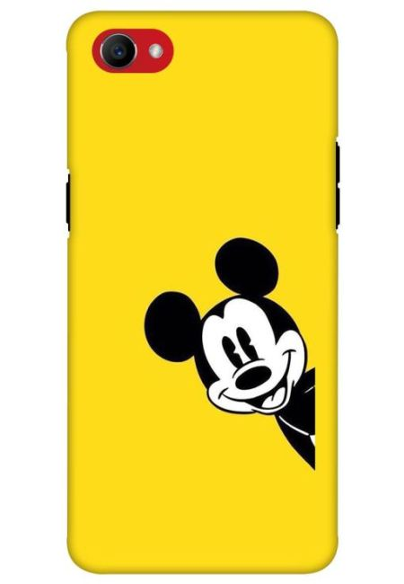 Yellow Mickey Art Mobile Cover For Oppo F7 Youth