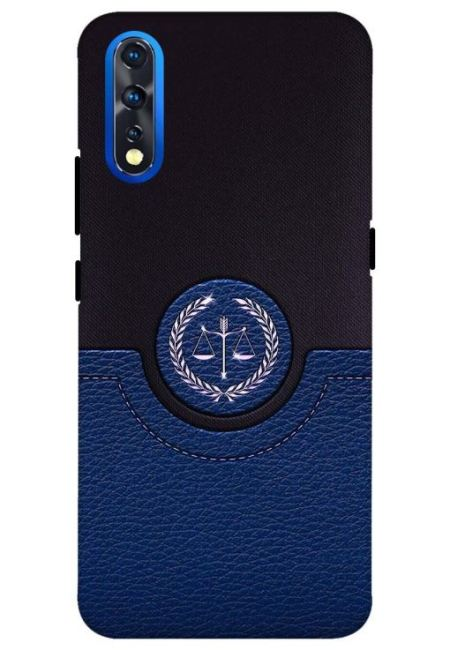 Blue Leather Wallet Mobile Cover For Vivo Z1X