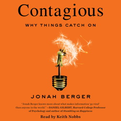Contagious audio book by Jonah Berger