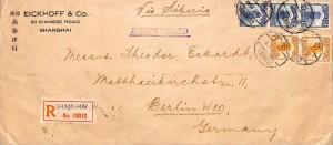 1927, Einschreiben der dritten Gewichtsstufe nach Berlin (Deutschland)