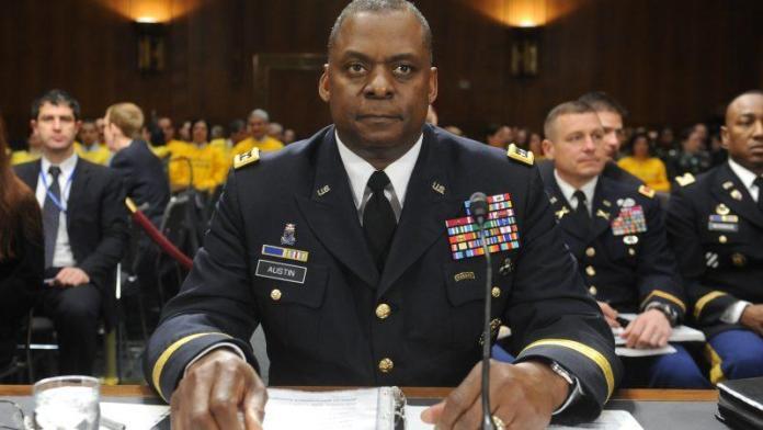General Lloyd J. Austin III at his confirmation hearing. [Source: euractiv.com]