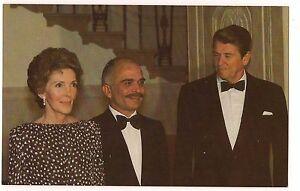 President RONALD & NANCY REAGAN King HUSSEIN of JORDAN POSTCARD Maryland David | eBay