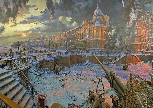 The seige of Leningrad. Diorama