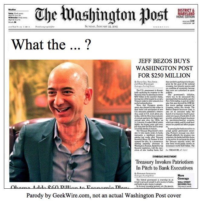 Which Jeff Bezos just bought The Washington Post? - GeekWire