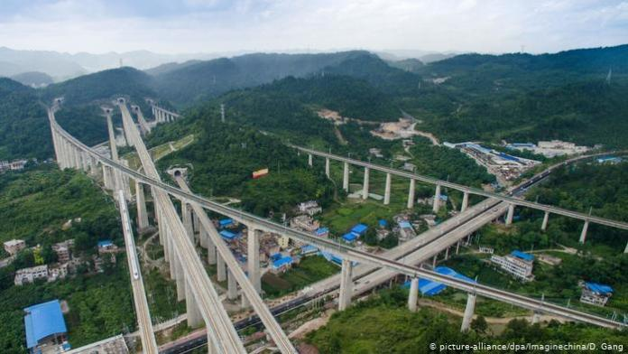 High-speed railways in Wudang district in Guiyang city, southwest China's Guizhou province