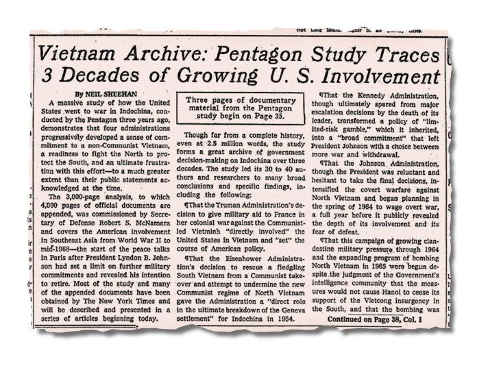 Behind the Race to Publish the Top-Secret Pentagon Papers - The New York  Times