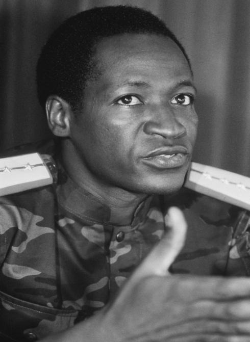Blaise Compaor en 1987, quelques jours aprs la mort de Thomas Sankara