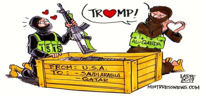 Trump ISIS al Qaeda Saudi Arabia Qatar MintPressNews