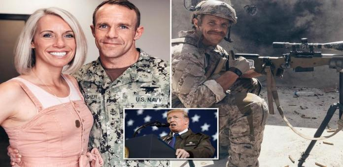 U.S. Navy SEAL Edward Gallagher charged with war crimes in Iraq reunited  with his wife   Daily Mail Online