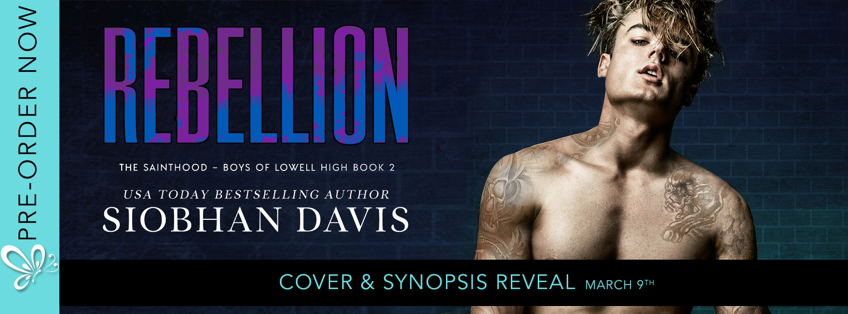 Social Butterfly PR Cover Reveal: Rebellion by Siobhan Davis