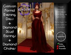 Crimson Formal Evening Dress