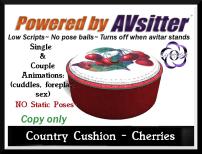 Country Cushion Cherries