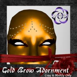 Gold Brow Adornment