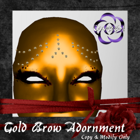 Gold Brow Adornment