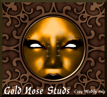 Gold Nose Piercings