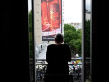 My mother is admiring the view of Montmartre