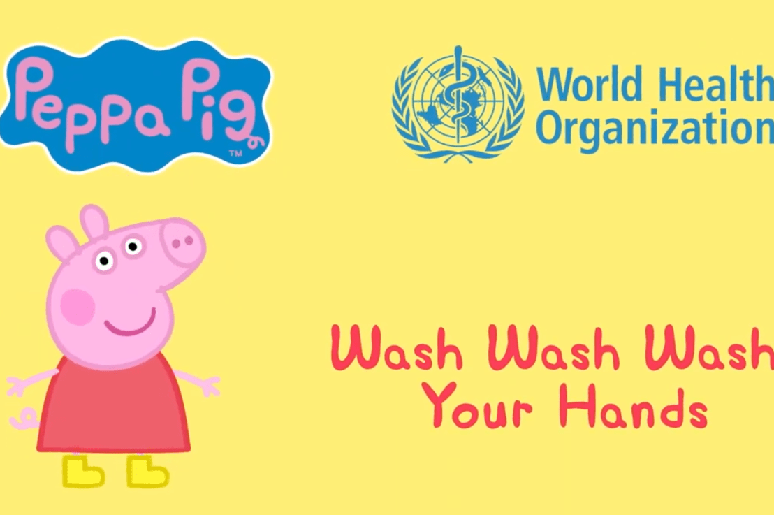 "WHO releases ""Wash Wash Wash your hands with Peppa Pig and friends""!"
