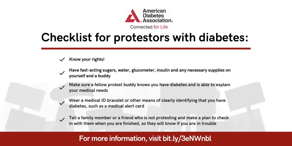 Staying safe while protesting with diabetes