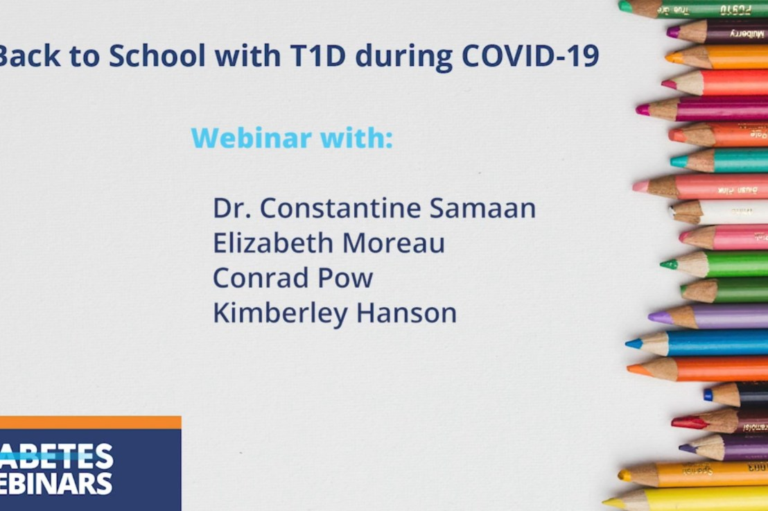 """Watch Diabetes Canada's webinar: """"Back to school with T1D during COVID-19"""""""