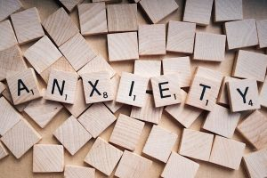 anxiety spelled out in a puzzle