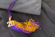 Cap and Gown with 2020 tassel