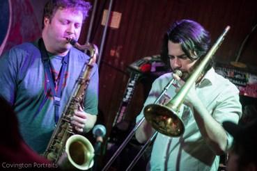 Mekong Xpress & The Get Fresh Horns, Cary Street Cafe, covington portraits