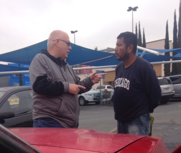 sharing Christ in the Walmart parking lot