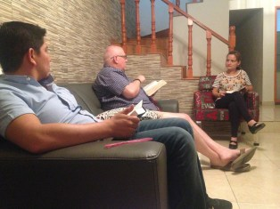 Bible study at the home of Javier and Yahaira