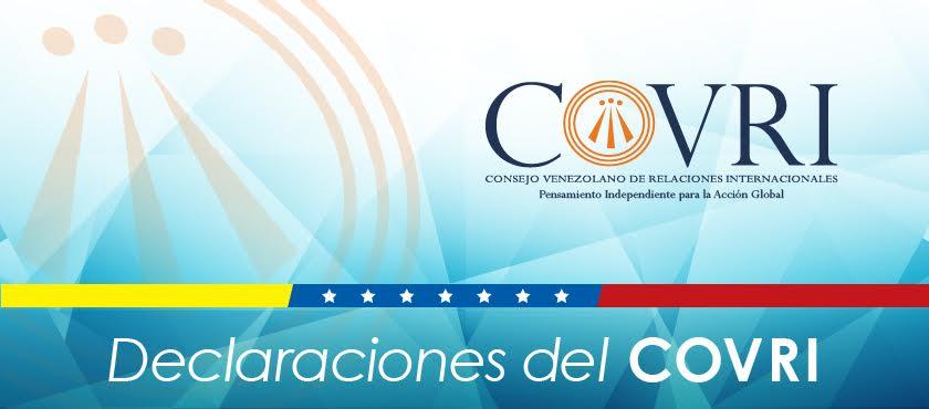 Declaración del COVRI sobre el apoyo de la Comunidad Internacional para resolver crisis de Venezuela