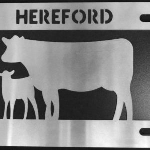 HEREFORD COW/CALF