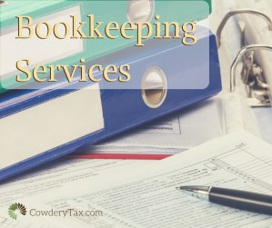 Bookkeeping Services for Small Businesses   CowderyTax.com