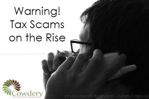 Tax Scams on the Rise   Cowderytax.com/home