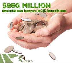 Millions Owed to Americans for Unfiled Tax Returns for 2012