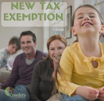 New Tax Exemption for the 2016 Filing Year