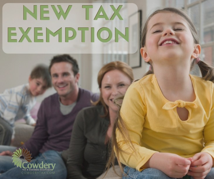 New Tax Exemption for the 2016 Filing Season | CowderyTax.com