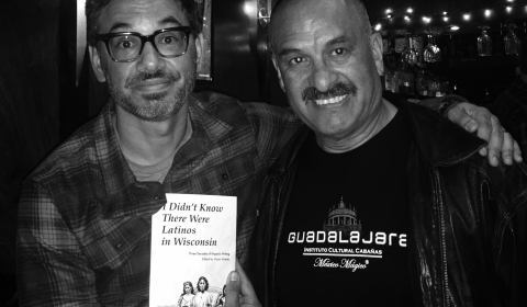 Oscar Mireles (right) with comedian Al Madrigal