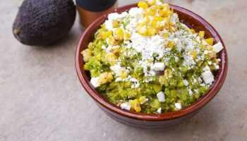 Guacamole Corn and Feta Dip