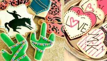 sookie's cookies and more cookie cake cake balls cupcakes cupcake sweet sweets cactus western fringe food pocket heart mk cacti arrow teepee mermaid shell graduate graduation rodeo queen barn pig sheep cow barnyard cowgirl magazine