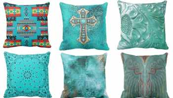 6 turquoise pillows under $50