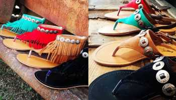 kurtmen sandal sandals kurtman shoe shoes summer fringe turquoise red black buckskin tan black leopard cheetah cowgirl magazine