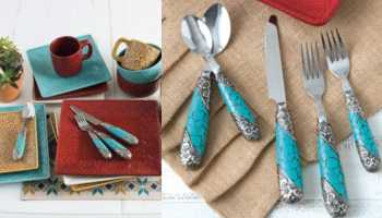 rods rods.com turquoise flatware dinnerware cowgirl magazine turquoise handle