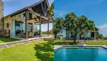 poolfront paradise stone custom home swimming pool cowgirl magazine