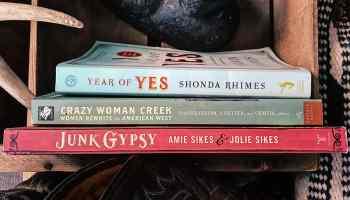 three books stacked cowgirl magazine
