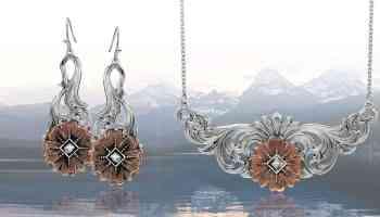 wildflower kaleidoscope Montana Silversmiths jewelry cowgirl magazine