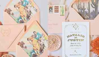 summit and sage Alex invitation invitations save the dates cowgirl magazine wedding bride bridall cowgirl magazine