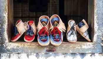 broncey donkey leather co moccasin moccasins cowgirl magazine